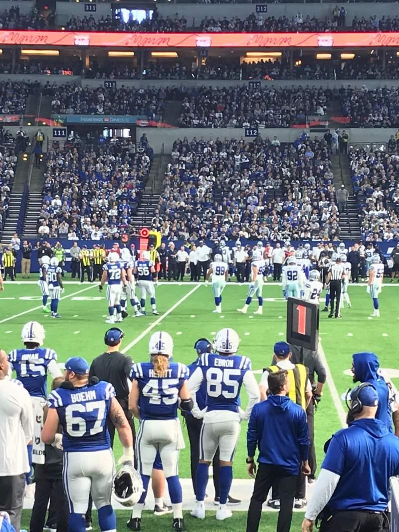 Vista sentada para Lucas Oil Stadium Secção 141 Fila 5