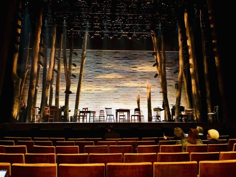 Vista sentada para Ahmanson Theatre Secção Orchestra Fila F Lugar 21