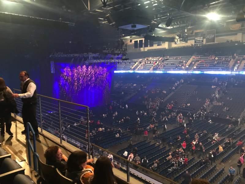 Vista sentada para Toyota Arena Secção 214 Fila C Lugar 9