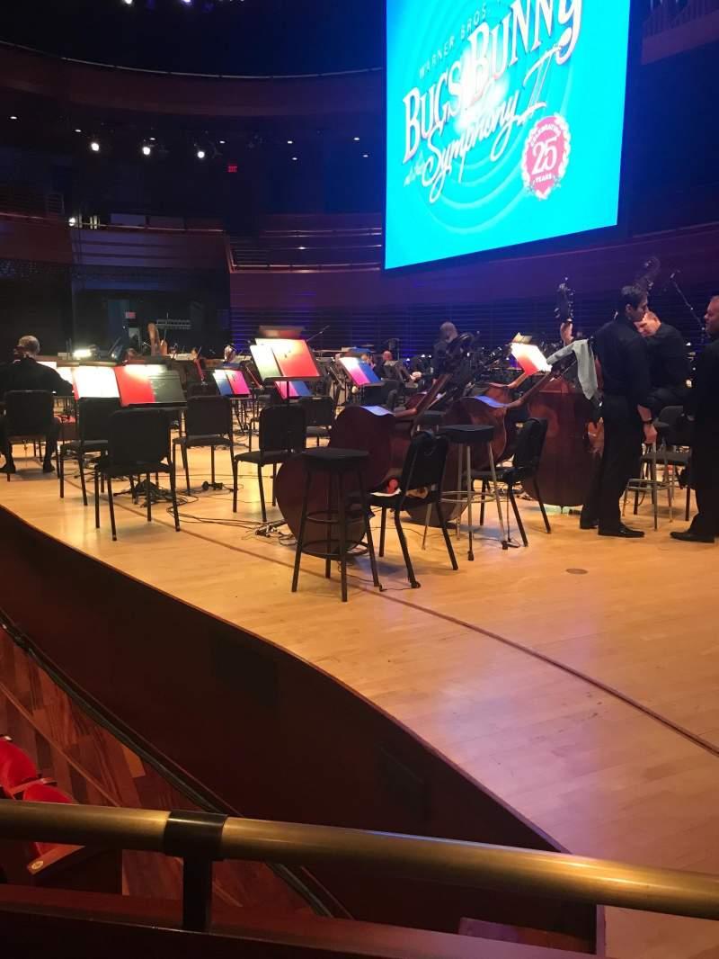 Vista sentada para Verizon Hall at the Kimmel Center Secção Orchestra Fila Box 1 Lugar Seat 2