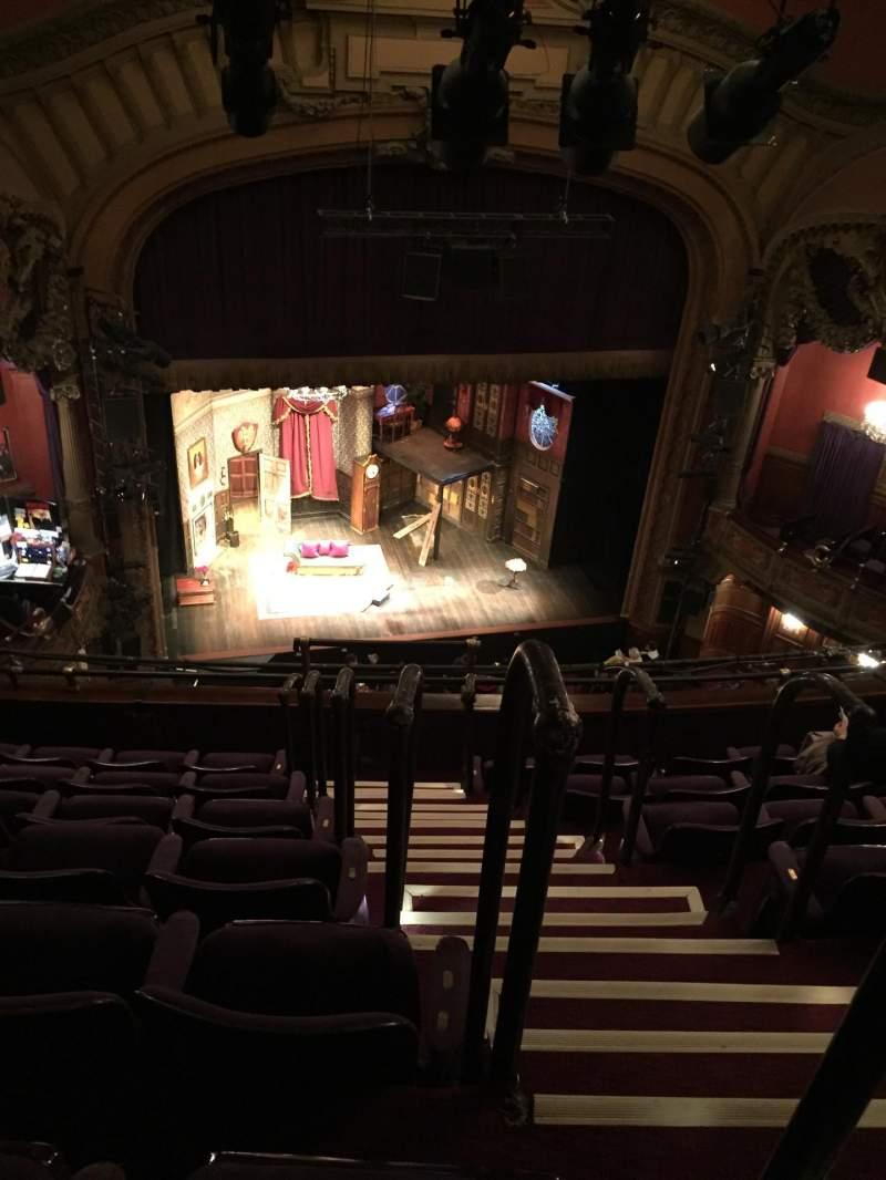 Vista sentada para Lyceum Theatre (Broadway) Secção Balcony L Fila G Lugar 1