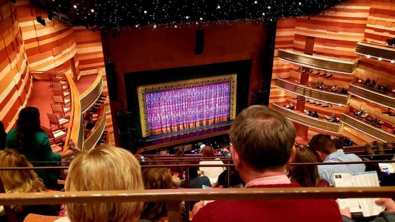 Vista sentada para Eccles Theater Secção 3TL Fila F Lugar 48