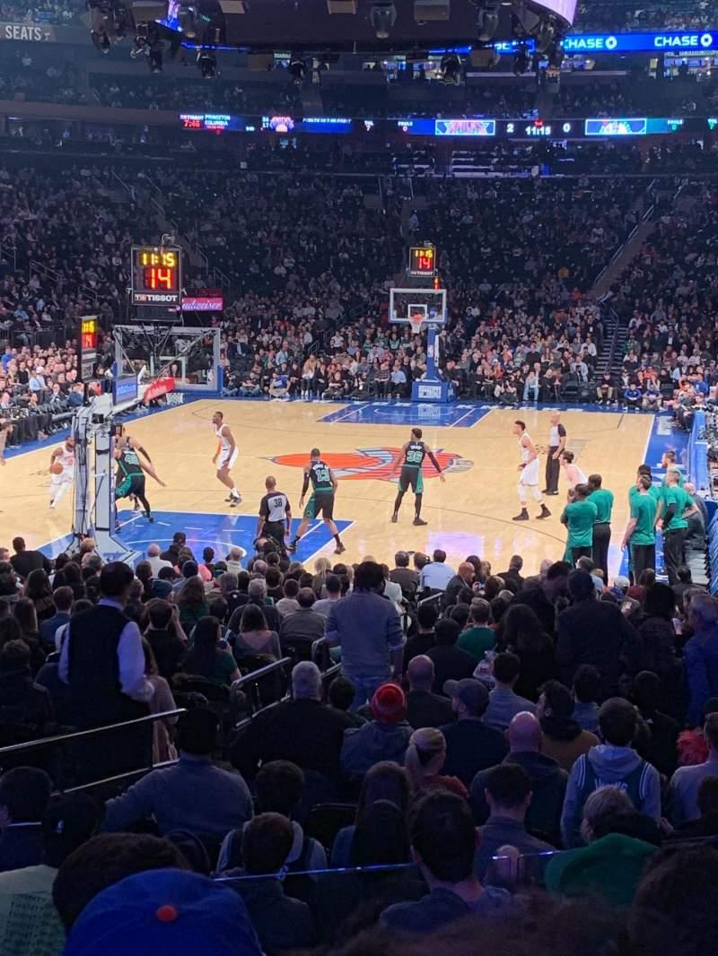 Vista sentada para Madison Square Garden Secção 103 Fila 11 Lugar 5
