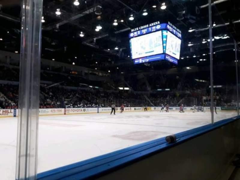 Vista sentada para Blue Cross Arena Secção 104 Fila A Lugar 8