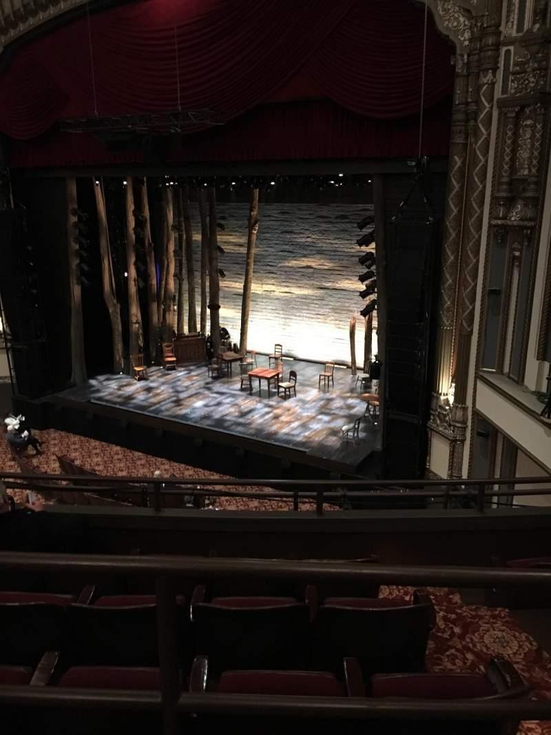 Vista sentada para Golden Gate Theatre Secção Mezzanine R Fila A Lugar 32
