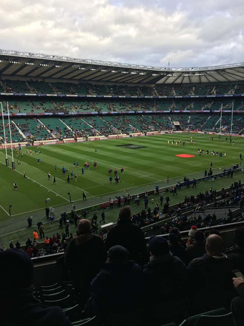 Vista sentada para Twickenham Stadium Secção M12 Fila 60 Lugar 334