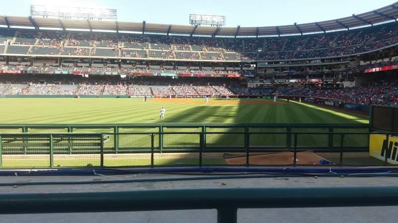 Vista sentada para Angel Stadium Secção 259 Fila G Lugar 6
