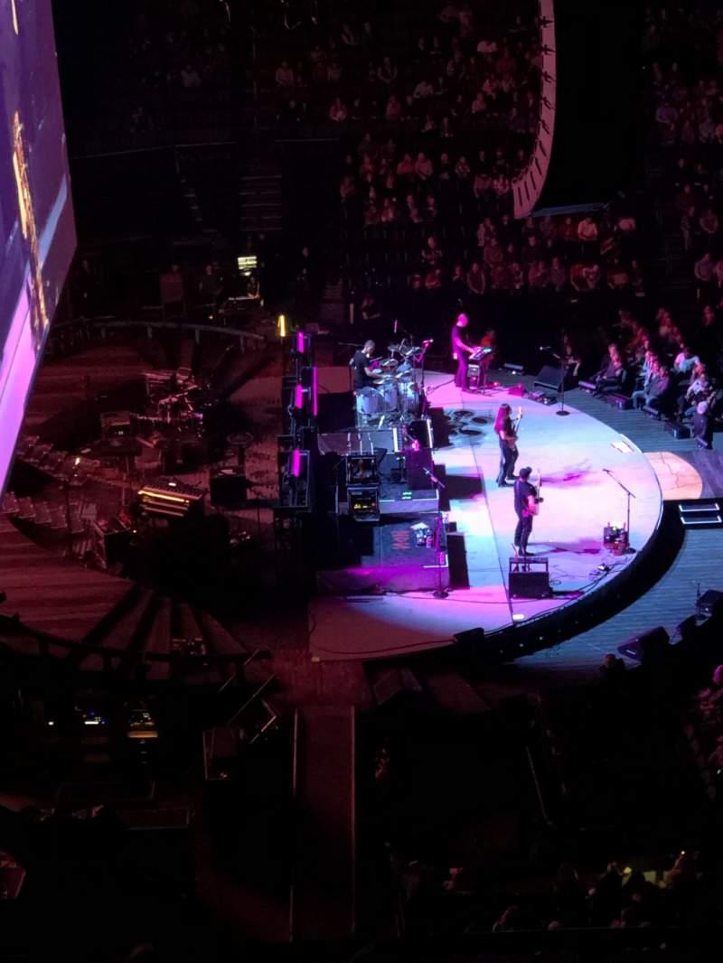 Vista sentada para Chesapeake Energy Arena Secção 310 Fila E Lugar 17