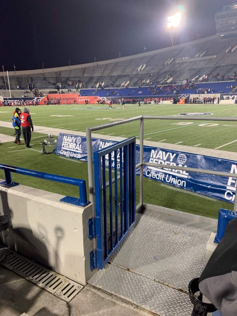 Vista sentada para Liberty Bowl Memorial Stadium Secção 117 Fila 4 Lugar 10