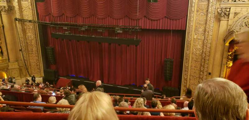 Vista sentada para Chicago Theatre Secção balcony2R Fila G Lugar 112