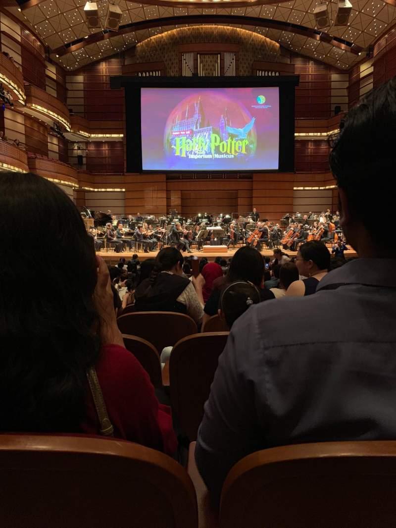 Vista sentada para Dewan Filharmonik Petronas Secção Stalls Fila S Lugar 16