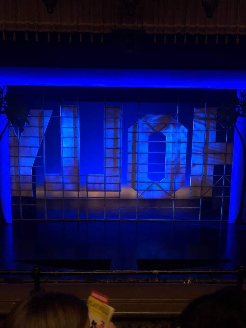 Vista sentada para Nederlander Theatre Secção Mezzanine C Fila C Lugar 109