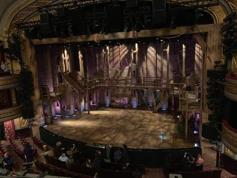 Vista sentada para Richard Rodgers Theatre Secção Front Mezzanine R Fila A Lugar 4