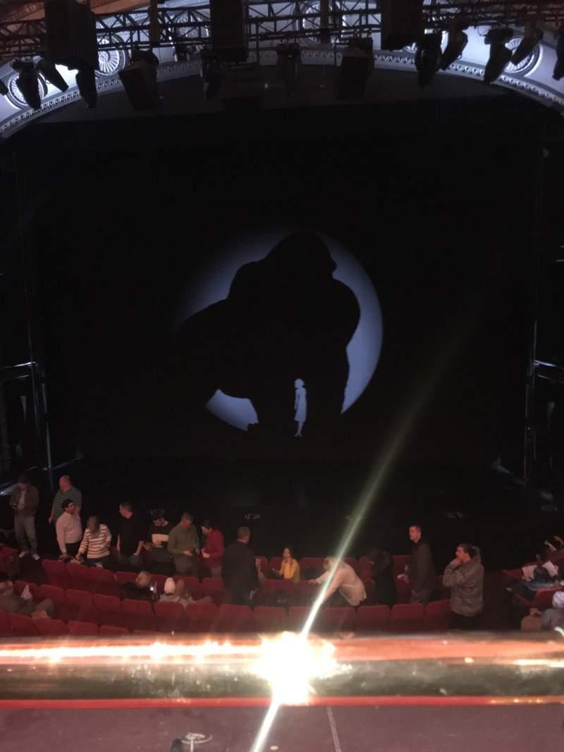 Vista sentada para Broadway Theatre - 53rd Street Secção Front Mezzanine RC Fila A Lugar 105