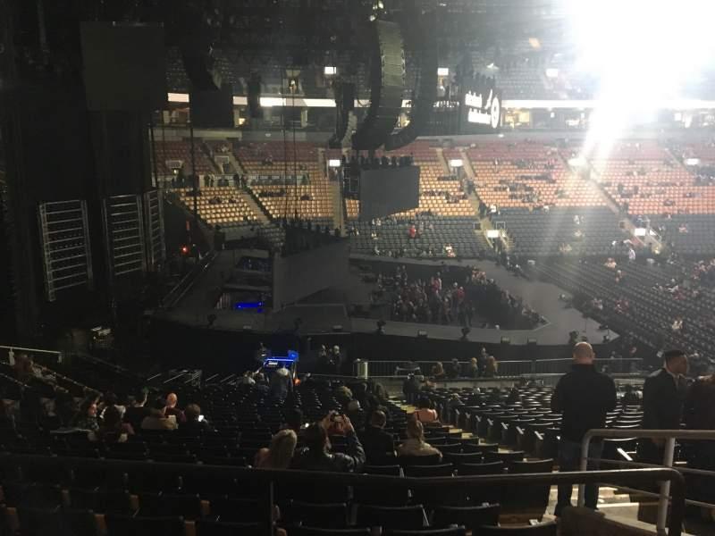 Vista sentada para Scotiabank Arena Secção 110 Fila 26 Lugar 3