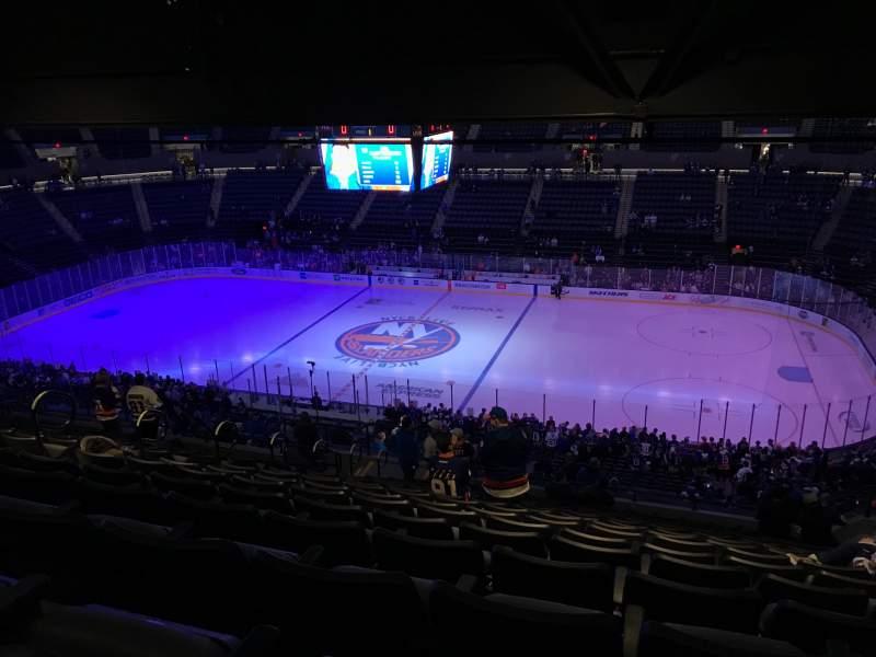 Vista sentada para Nassau Veterans Memorial Coliseum Secção 201 Fila 15 Lugar 6