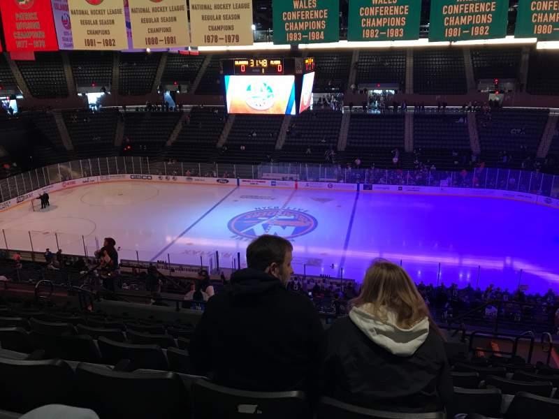 Vista sentada para Nassau Veterans Memorial Coliseum Secção 222 Fila 11 Lugar 7