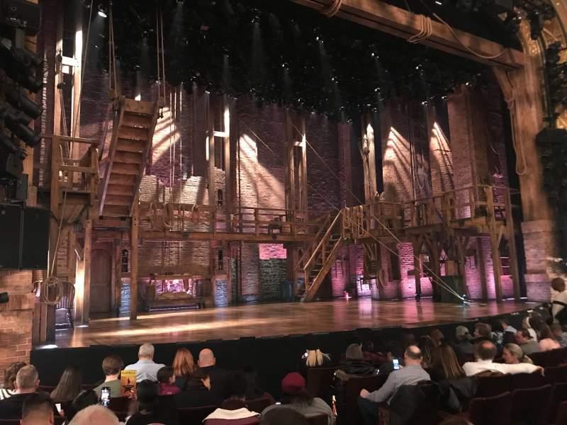 Vista sentada para Richard Rodgers Theatre Secção Orchestra L Fila H Lugar 9