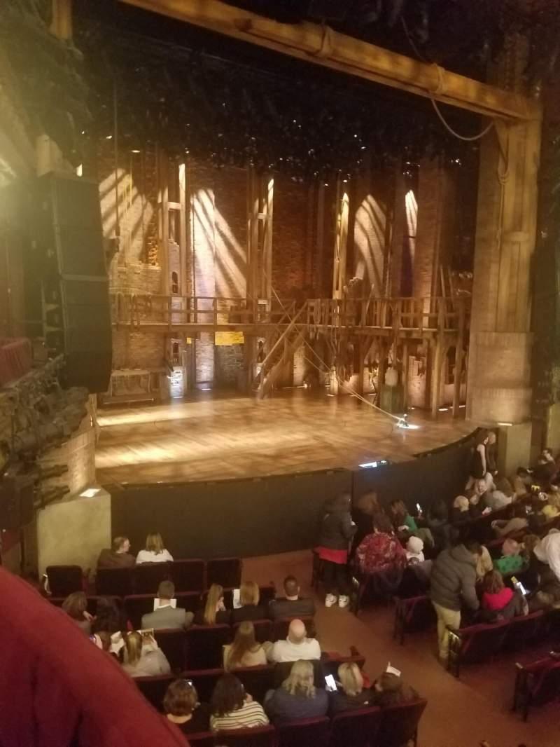 Vista sentada para CIBC Theatre Secção Dress Circle Box 1