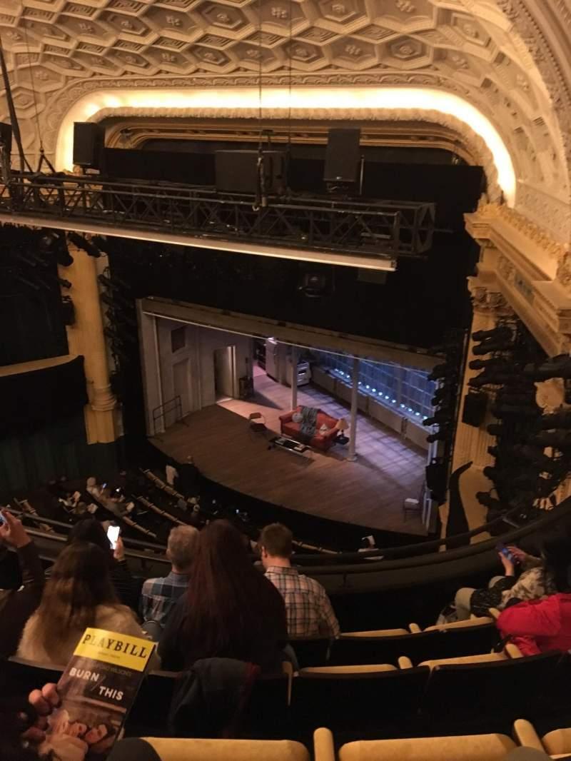 Vista sentada para Hudson Theatre Secção Balcony R Fila E Lugar 10