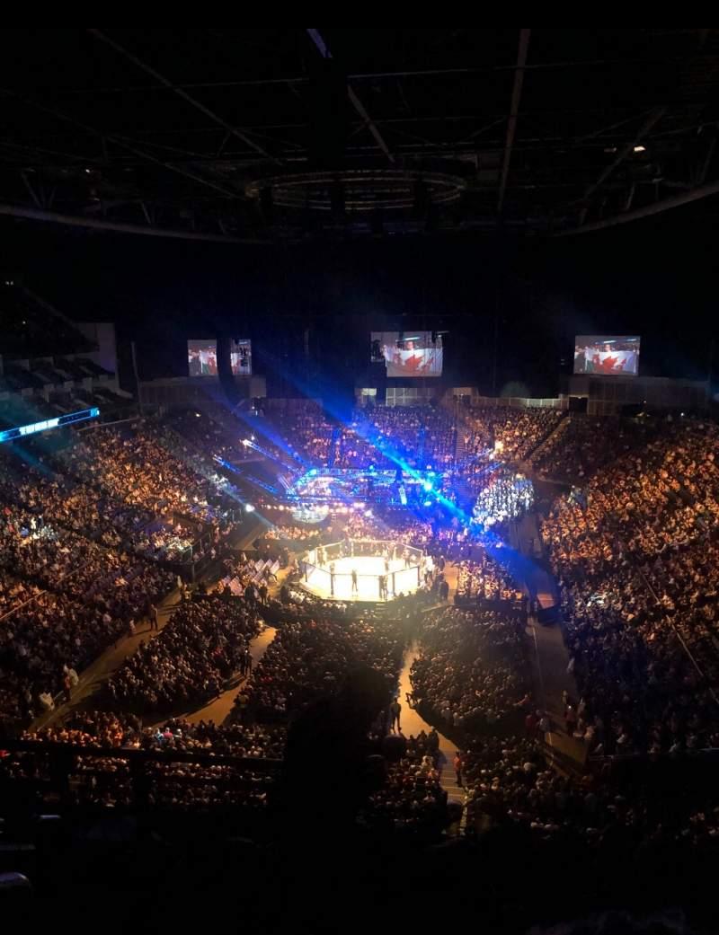Vista sentada para The O2 Arena Secção 412 Fila G Lugar 736