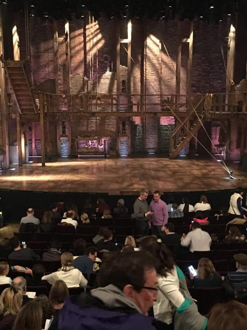 Vista sentada para Richard Rodgers Theatre Secção Orchestra C Fila P Lugar 108