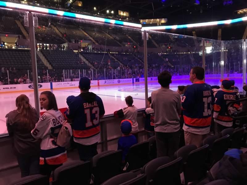 Vista sentada para Nassau Veterans Memorial Coliseum Secção 19 Fila 3 Lugar 7