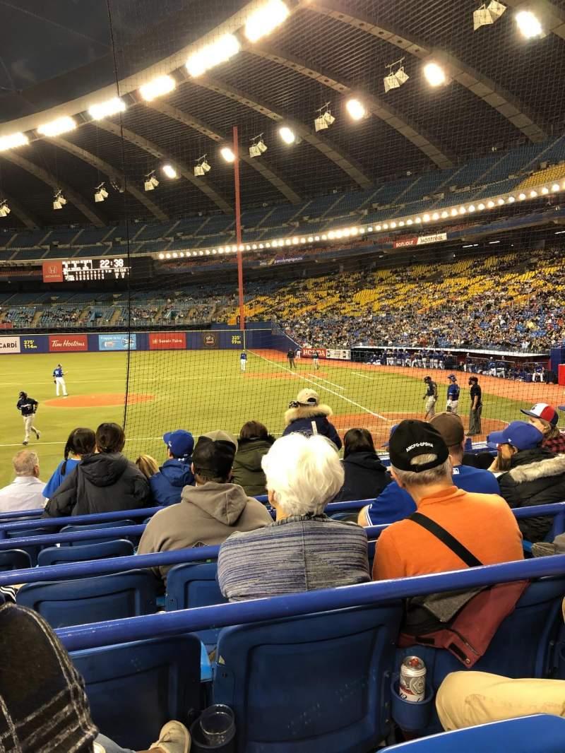 Vista sentada para Olympic Stadium, Montreal Secção 106 Fila MM Lugar 11