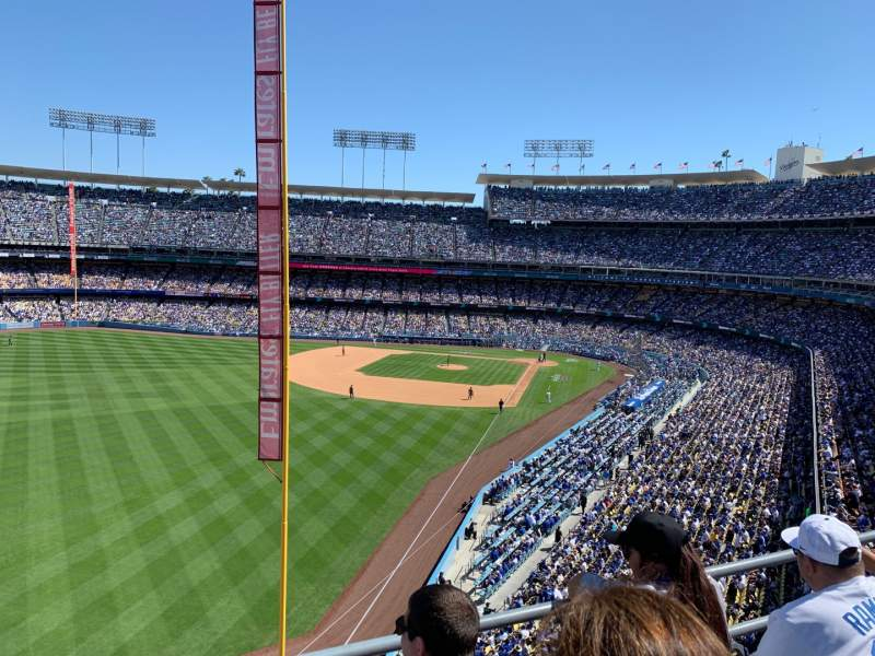 Vista sentada para Dodger Stadium Secção 55RS Fila C Lugar 11