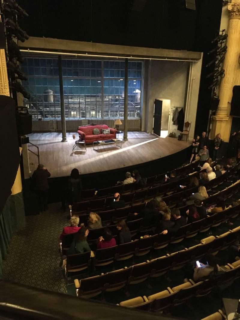 Vista sentada para Hudson Theatre Secção Balcony L Fila A Lugar 15