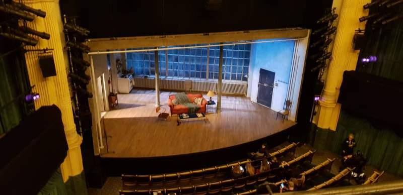 Vista sentada para Hudson Theatre Secção Balcony L Fila A Lugar 1