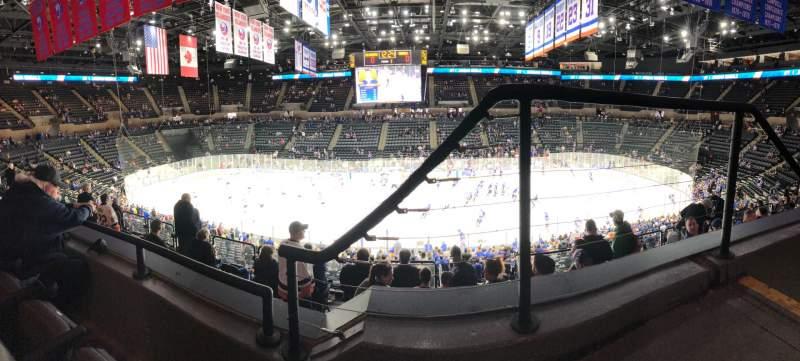Vista sentada para Nassau Veterans Memorial Coliseum Secção 223 Fila 2 Lugar 1
