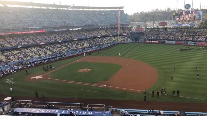 Vista sentada para Dodger Stadium Secção 24RS Fila C