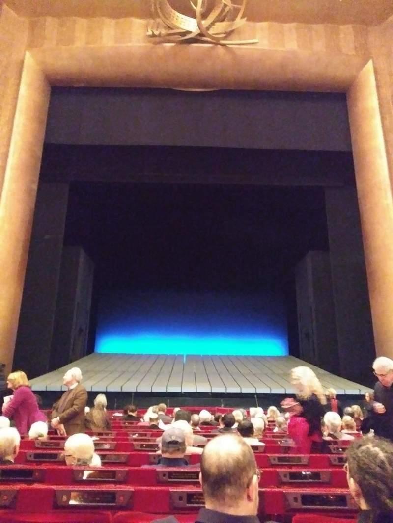 Vista sentada para Metropolitan Opera House - Lincoln Center Secção Orchestra Fila N Lugar 109