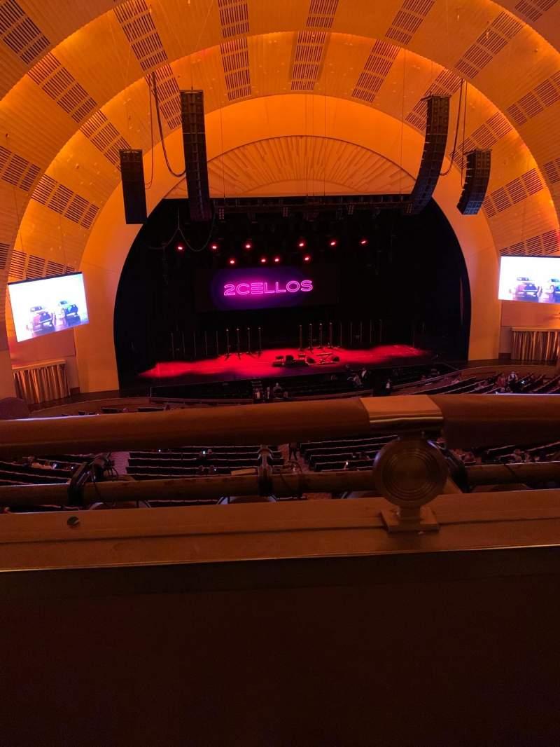 Vista sentada para Radio City Music Hall Secção 2nd mezzanine 5 Fila A Lugar 512