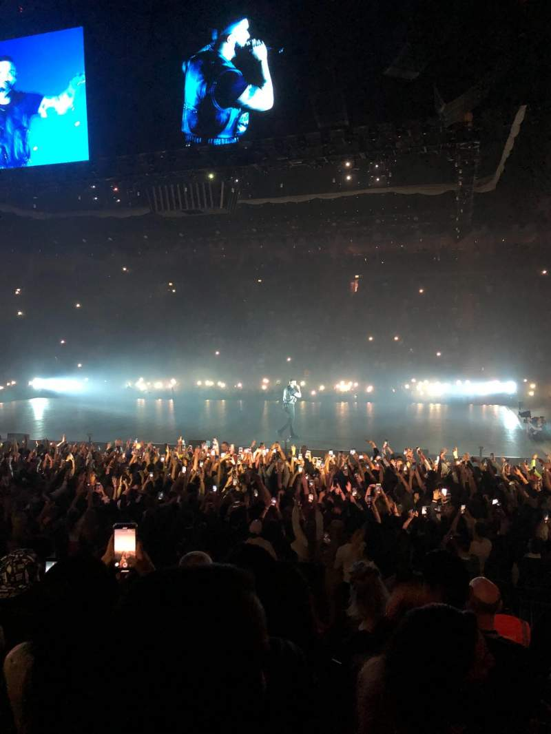 Vista sentada para The O2 Arena Secção 102 Fila J Lugar 85
