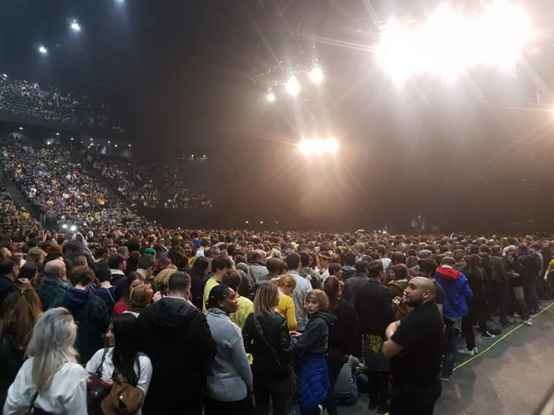Vista sentada para AccorHotels Arena Secção F Fila 28 Lugar 4
