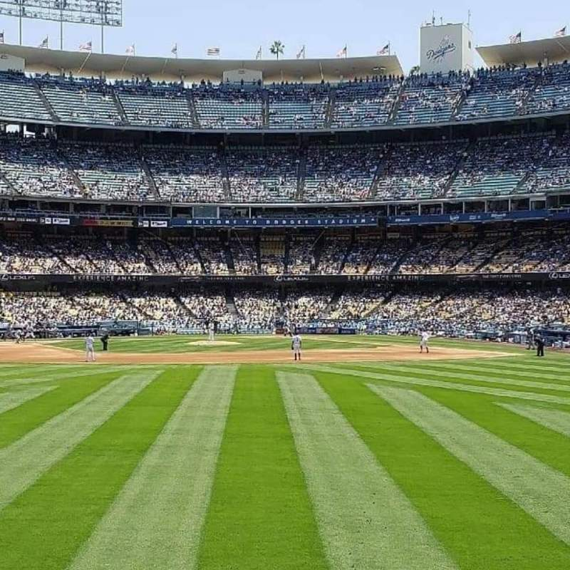 Vista sentada para Dodger Stadium Secção 307PL Fila A  Lugar 5