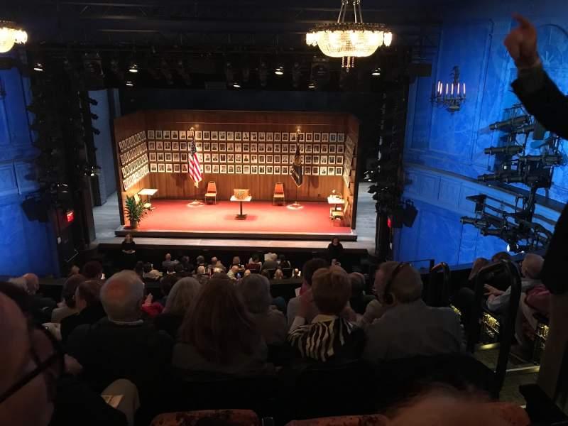 Vista sentada para Hayes Theater Secção Mezzanine C Fila G Lugar 103