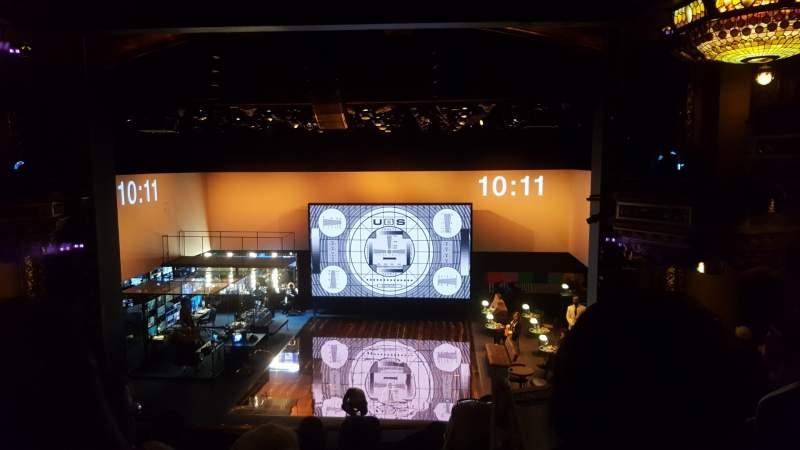 Vista sentada para Belasco Theatre Secção Mezzanine C Fila F Lugar 112