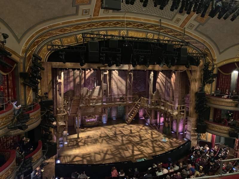 Vista sentada para Richard Rodgers Theatre Secção Front Mezzanine L Fila D Lugar 11