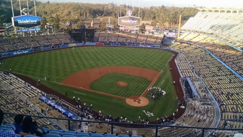 Vista sentada para Dodger Stadium Secção 7TD Fila J Lugar 16