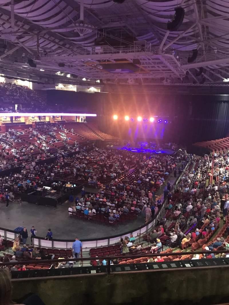 Vista sentada para Bon Secours Wellness Arena Secção 231 Fila C Lugar 3