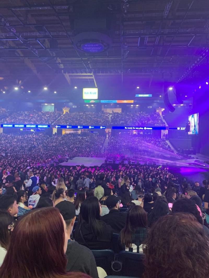 Vista sentada para Allstate Arena Secção 110 Fila M Lugar 24