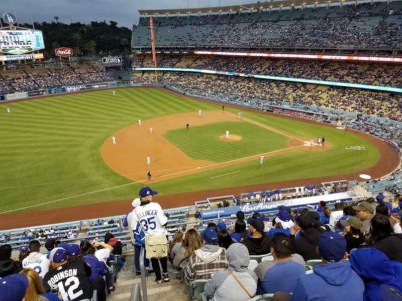 Vista sentada para Dodger Stadium Secção 23RS Fila K Lugar 13