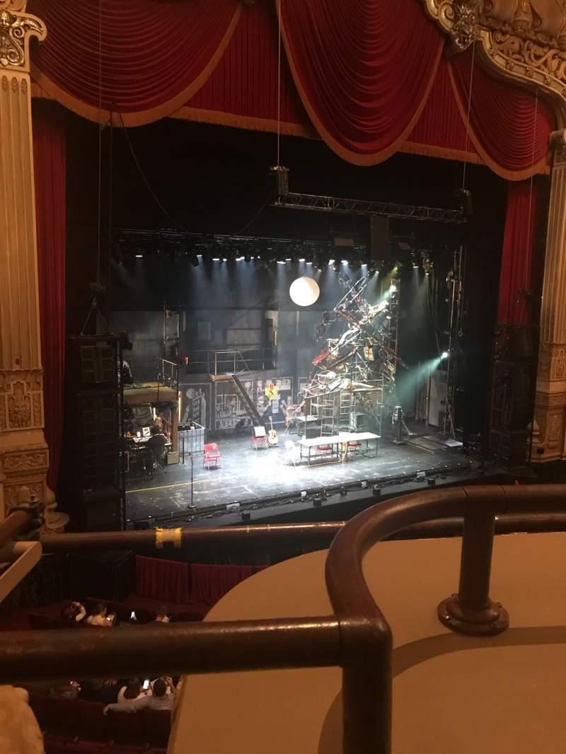 Vista sentada para James M. Nederlander Theatre Secção Loge L Fila A Lugar 353
