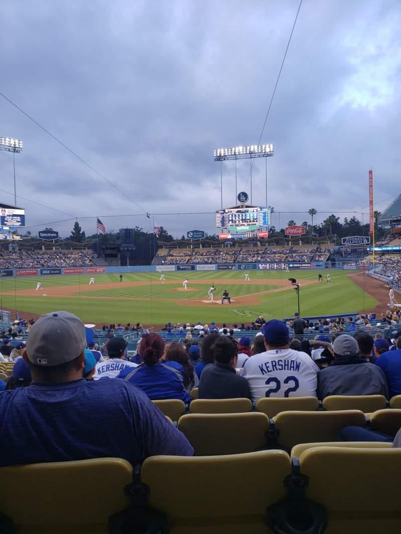 Vista sentada para Dodger Stadium Secção 3FD Fila T Lugar 9