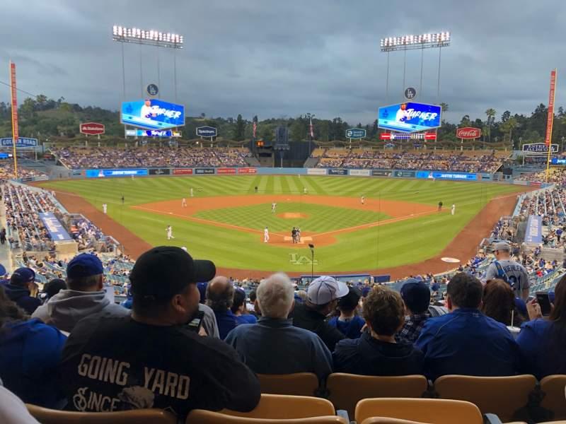 Vista sentada para Dodger Stadium Secção 101LG Fila N Lugar 5