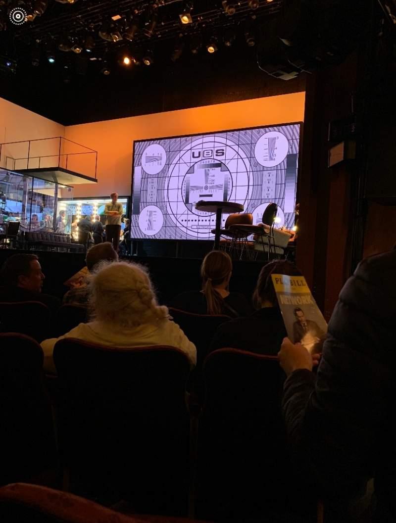 Vista sentada para Belasco Theatre Secção Orchestra R Fila D Lugar 10