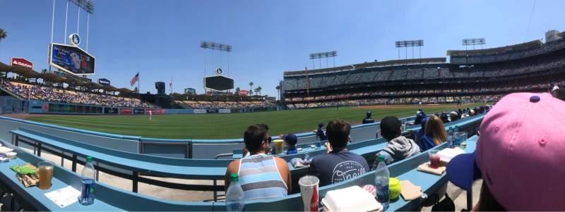Vista sentada para Dodger Stadium Secção 45BL Fila CC Lugar 4
